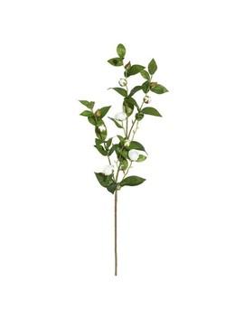 Artificial Tea Rose Spray (34'') White   Vickerman by Vickerman