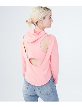 lld-solid-cutout-back-pullover-hoodie by aeropostale