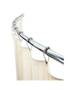 """Bath Bliss 72"""" Adjustable Curved Fixed Shower Curtain Rod & Reviews by Bath Bliss"""