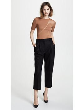 Short Sleeve Crew Neck Sweater by Cushnie Et Ochs