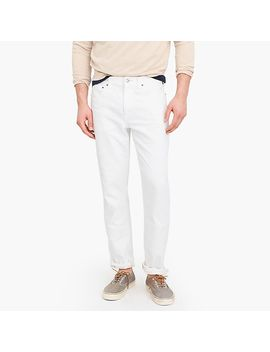 770 Straight Fit Stretch Jean In White by J.Crew