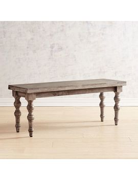 Truffle Gray Dining Bench by Carson Collection