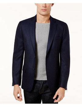 Men's Slim Fit Navy Birdseye Soft Jacket by Calvin Klein