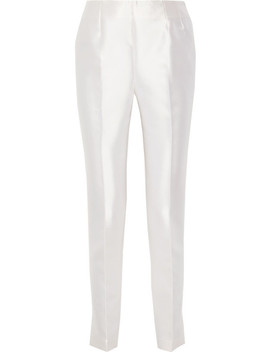 Chapman Silk And Wool Blend Skinny Pants by Gabriela Hearst