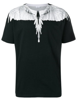 Marcelo Burlon County Of Milan Double Wings T Shirthome Men Clothing T Shirts Double Wings Shorts Double Wings T Shirt by Marcelo Burlon County Of Milan