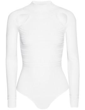Fiona Cutout Ribbed Stretch Knit Bodysuit by Cushnie Et Ochs