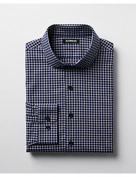 Extra Slim Check Dress Shirt by Express