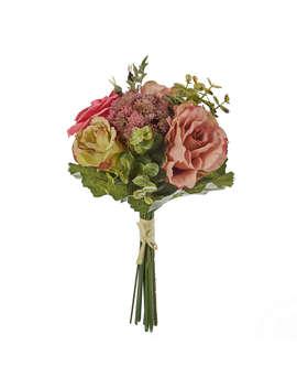 John Lewis Artificial Rose & Eucalyptus Flower Bundle by John Lewis