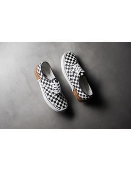Vans Authentic (Gum Block) Checkerboard   Black/White by Politics