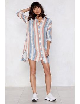 Stripe There Shirt Dress by Nasty Gal