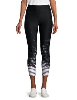 Striped Mirage Leggings by Calvin Klein Performance