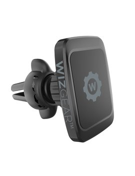 Magnetic Mount, Wiz Gear Universal Twist Lock Air Vent Magnetic Car Mount Holder, For Cell Phones With Fast Swift Snap Technology by Wiz Gear