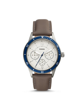 Flynn Sport Multifunction Gray Leather Watch by Fossil