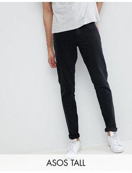 Asos Design Tall Slim Jeans In Black by Asos Design