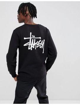Stussy Sweatshirt With Logo Back Print In Black by Stussy