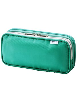 Lihit Lab. Double Pen Case L Size, Green, 4.1 X 8.7 (A7661 7) by Lihitlab