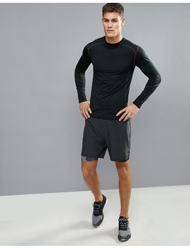 New Look Sport Stretch Long Sleeve Top In Black by New Look