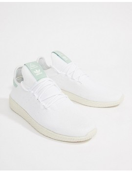 Adidas Originals Pharrell Williams Tennis Hu Sneakers In White Cq2168 by Adidas Originals