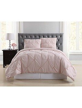 Truly Soft Pleated King Comforter Set In Blush by Bed Bath And Beyond