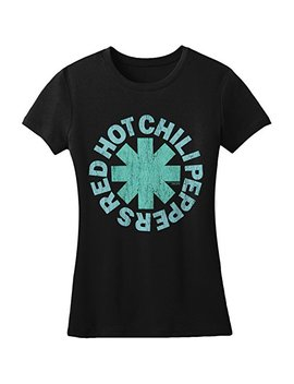 Red Hot Chili Peppers Aqua Asterisk Girls Jr Black by Bravado