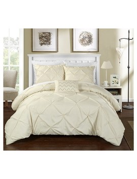 Whitley Pinch Pleated & Ruffled Duvet Cover Set   Chic Home Design® by Chic Home Design