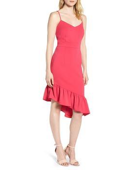 Asymmetric Ruffle Hem Dress by Chelsea28