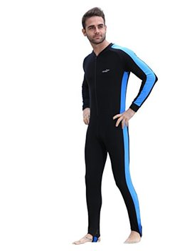 Rga Swimming Bodysuit Snorkeling Lycra Skin Full Body Diving,One Piece Long Sleeve Surfing Suit Sun Protection For Adult,Kids,Men,Women by Rga
