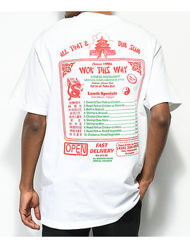 Open925 Wok This Way White T Shirt by Open925
