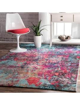 The Curated Nomad Stella Abstract Multicolor Rug by The Curated Nomad