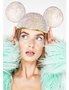 Crystal Ears Hat by Diamond Dolls