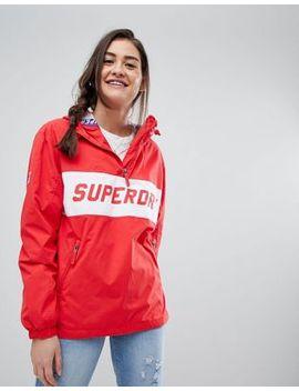 Superdry Skater Logo Pullover Windbreaker by Superdry