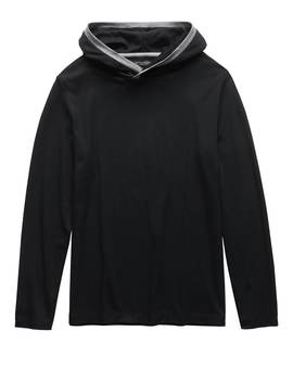 Luxury Touch Hoodie With Contrast Trim by Banana Repbulic