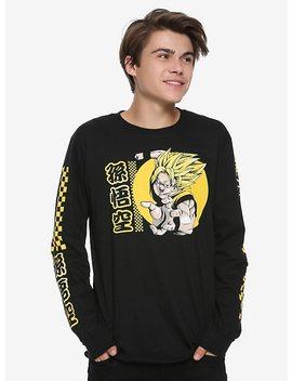 Dragon Ball Z Super Saiyan Goku Checkerboard Long Sleeve T Shirt Hot Topic Exclusive by Hot Topic