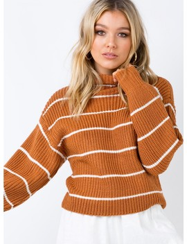 Cassaniti Knitted Jumper Orange by Princess Polly