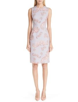 Freize Print Stretch Cady Pencil Dress by Versace Collection