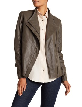 Kelly Leather Jacket by T Tahari