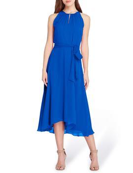 Sleeveless Chiffon Midi Dress by Tahari