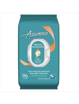 Assurance Premium Extra Large Disposable Washcloths, 96 Ct by Assurance