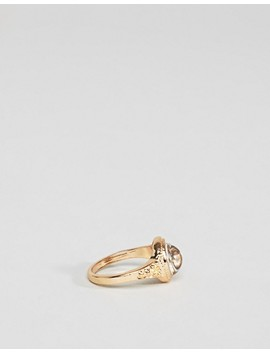 Asos Design Pack Of 4 Engraved Pretty Stone Rings by Asos Design