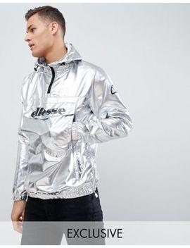 Ellesse Overhead Jacket In Silver by Ellesse