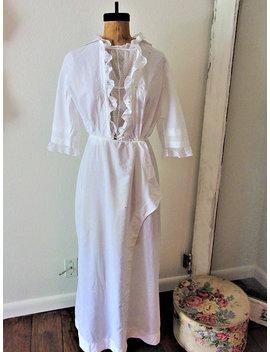 Antique Edwardian White Cotton Lace Day Dress | Antique Edwardian Clothing Repair Project Dress | 1910's Cotton  Lace Ladies Dress by Etsy