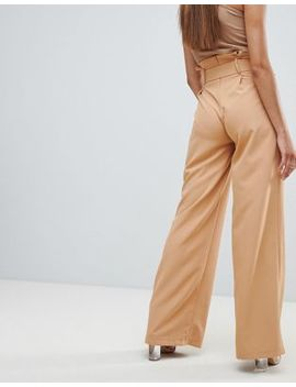 Missguided Belted Paperbag Pants by Missguided