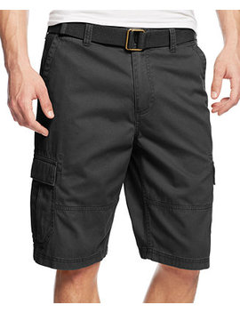 Men's Belted Relaxed Cargo Shorts, Created For Macy's by American Rag