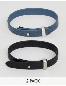 Emporio Armani Leather Bracelet With Interchangeable Straps by Emporio Armani