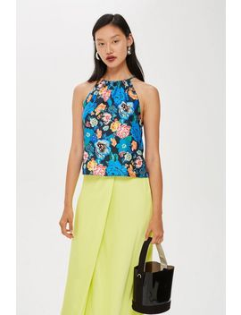 Floral Halter Top by Topshop