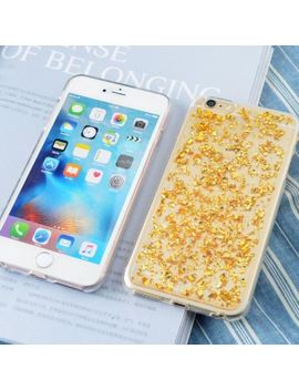 Glitter Bling Silicone Rubber Gold Foil Case Cover For I Phone X 8 7 Plus 6 S 5 Se by Unbranded/Generic