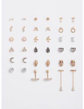 Mixed Charm Stud Earrings   Set Of 18 by Torrid