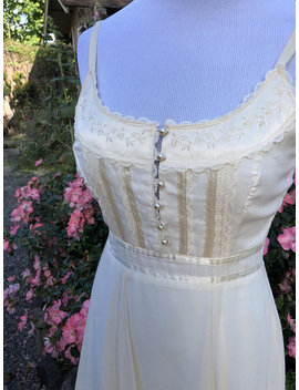 Vintage Prairie Dress, West World, Muslim & Lace Cochella Full Length Dress, Cream Color by Etsy