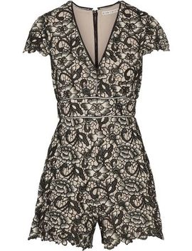 Guipure Lace Playsuit by Alice+Olivia