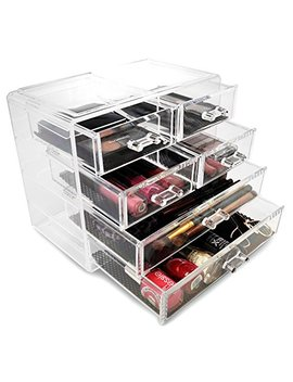 Sorbus® Acrylic Cosmetics Makeup And Jewelry Storage Case Display  2 Large And 4 Small Drawers Space  Saving, Stylish Acrylic Bathroom Case by Sorbus